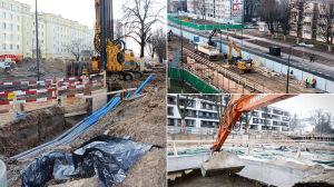 Budowa II linii metra rozkręca się po obu stronach Wisły