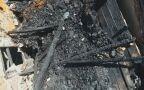 Pożar świdermajera, wideo z drona