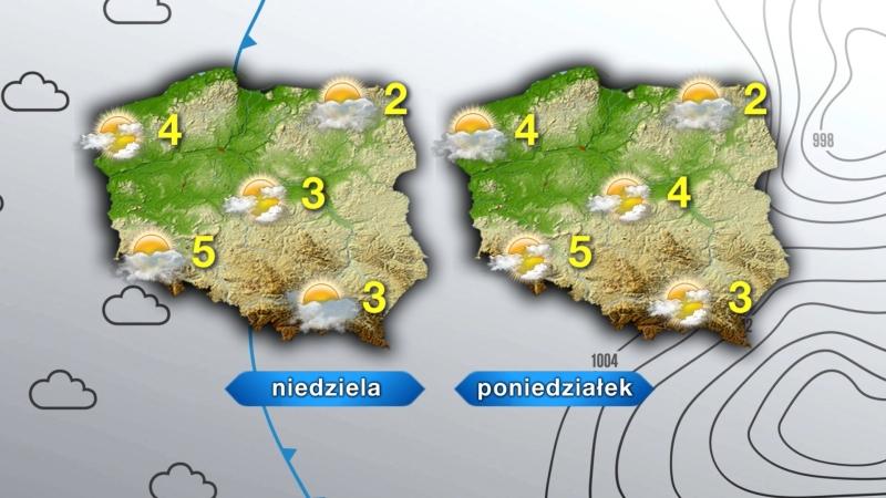 Niedziela i poniedziałek w Polsce