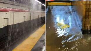 """Nowojorskie metro zalane, woda przeciekała przez stropy. """"To była katastrofa"""""""