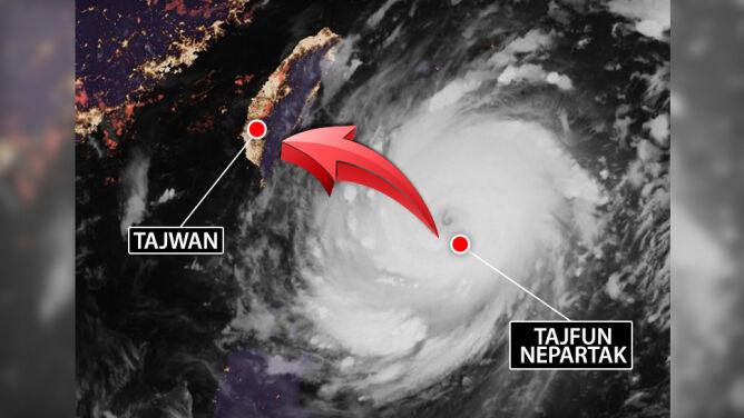 Supertajfun uderzy w Tajwan. <br />Wieje w porywach 280 km/h