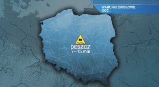 Warunki drogowe w nocy 24.05/25.05