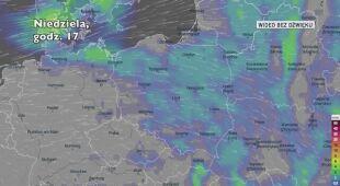 Prognozowane opady deszczu na kolejne dni (Ventusky.com)