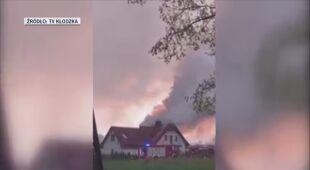 W miejscowości Szczytna zapalił się dom